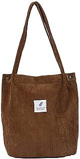 Pana Snap Fastener cierre lienzo bolso de hombro bolsa de hombro estilo de gran capacidad de la Universidad para las mujer...
