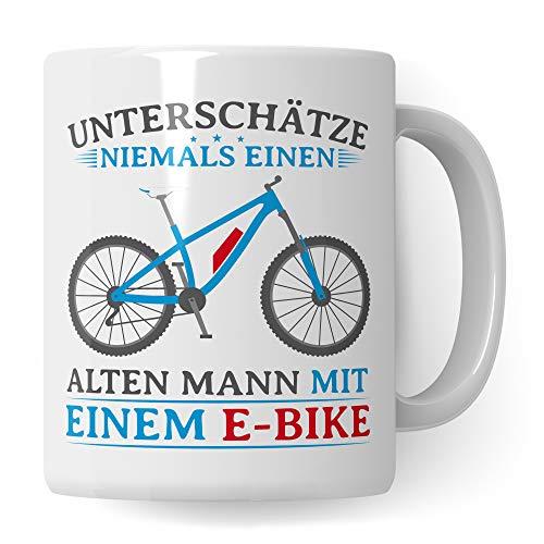 Pagma Druck Tasse EBike, Geschenke für E Bike Fahrer Ruhestand, Rentner Fahrrad Elektrorad Rente Renteneintritt Geschenkidee, Rentenbeginn Pedelec E-Bike Becher Kaffeetasse