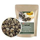 FullChea - Jasmine Pearl Tea - Jasmine Dragon Pearls - Loose Leaf Green Tea - Jasmine Green Tea with Delightful Aroma 4oz / 113g