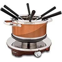 NutriChef 1000W Warmer Electric Melting Pot Fondue Maker