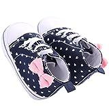 WAYLONGPLUS Infant Canvas Soft Sole Anti-Slip Prewalker Toddler Crib Shoes Love Print Sneaker (White Size 1)