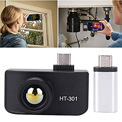 Infrared Thermal Imager Camera,HT-301 Mini Intelligent Mobile Phone Thermal Imaging Camera USB Infrared Imager