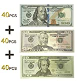 Lefree Fake Money Copy Money 20,50,100 Dollar Prop Money Realistic Double Sided Money Stack 120 Bills Full Print Fake Dollars