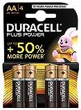 Duracell Plus Power Pilas Alcalinas AA, paquete de 4