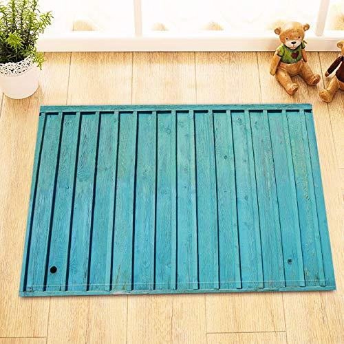 NNAYD1996 houten plank, blauw, 3D-print, badkameraccessoires, ingangsdeur, achterdeur, keuken, woonkamer, toilet