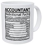 Wampumtuk Accountant Nutritional Facts CPA Accounting 11 Ounces Funny Gift Coffee Mug