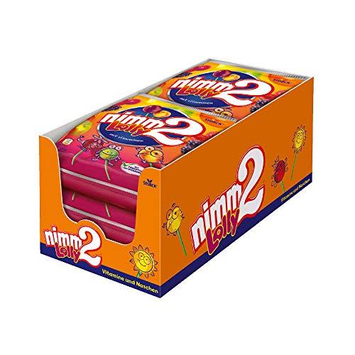 nimm2 Lolly (6 x 120g) / Fruchtige Lutscher mit Vitaminen in 4 Sorten
