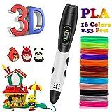 kainuoa bolígrafo 3D, bolígrafo 3D impresión bolígrafo 3D Profesional con Voz Inteligente, Dibujo bolígrafo 3D Kit para niños Adultos, filamento pla de 1.75mm, Regalo para Navidad