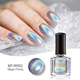 Born Pretty Smalto olografico con brillantini ultra lucido da 6 ml per nail art