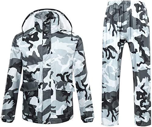 Mannen/Vrouwen Regenkleding, waterdichte jas/broekpakken winddicht jas/Broek Set Motorcycle regenjas met Hideaway Hood,XL