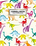 Cornell Notes Notebook: Amazing Origami Large Cornell Note Paper Notebook - Fantastic Colorful Dinosaurs College Ruled Medium Lined Journal Note Taking System for School and University