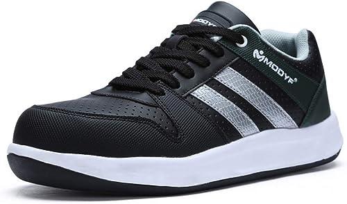 En plein air Chaussures de Sécurité Homme, Embout d'Acier d'Acier Semelle Anti-Perforation Acier Chaussures de Travail, Prougeection Antidérapante (Taille   45)  prix les plus bas