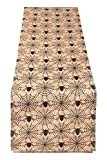 Yourtablecloth Printed Jute Table Runner (Halloween Spider, 14 x 108)