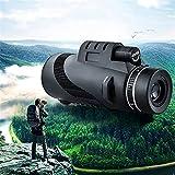 monoculari per adultiProfessional binocolo 40x60 potente binocolo impermeabile acqua zoom grande binocolo palmare militare visione notturna HDmonocular