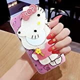 LR Soft Cute Makeup Mirror Hello Kitty Special Girl's Printed Back Case Cover for Honor 9 Lite - Pink