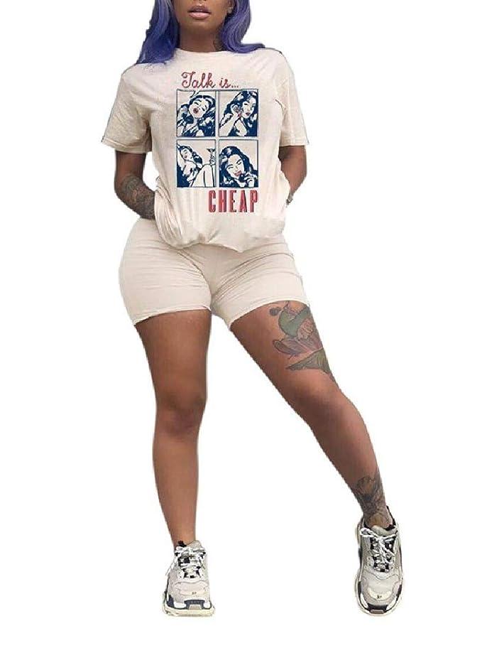 ビジョンバスタブ第九VITryst 女性のツーピースのパターンのラウンジウェアショートスリーブトラックスーツジョグセット