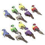 Perfeclan 12er Simulation Dekovogel Realistisches Fliegende Vogel Figur Spielzeug Deko Lebensechte Skulptur Miniatur Tier Modell Vögel