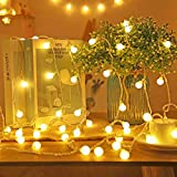 Koxly Globe String Lights 49 Ft 100 LED Waterproof Decoration Light Strings Plug...
