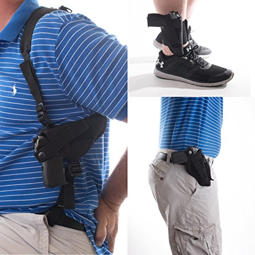 """Big Horn Holsters Gun Holster Buy 1 GET 2 Free Ankle Shoulder Hip Walther CCP M2 3.54"""" BRL Walther PK 380 3.66"""" BRL Walther PPQ SC 9MM 3.5"""" BRL All FIT with OR Without Laser #5"""