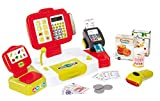 Smoby - Grande Caisse Enregistreuse Rouge - 27 Accessoires - Balance Mécanique - Vraie Calculatrice + Scanner Son et Lumière - 350107