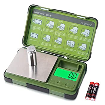 Fuzion Gram Scale 0.1g/1000g Digital Pocket Scale with 6 Units Grams and Ounces Small Herb Scale for Powder Spices Jewelry Coins Battery Included