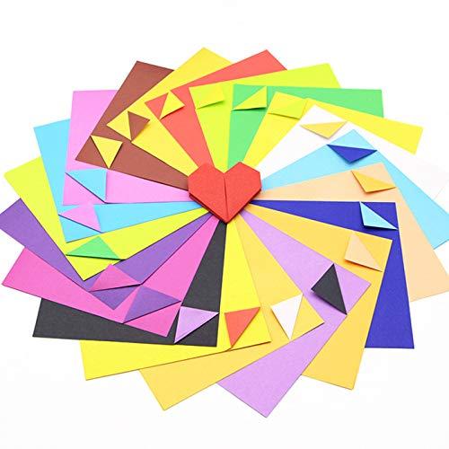 Zuzer Faltpapier Kinder,300 Blatt Origami Papier Bunt Origami-Papier Origami Bastelpapier Buntes Papier zum Basteln,10x10cm/15x15cm/20x20cm