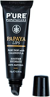 Pure Papaya for Lips 10g 100% Vegan, 100% Natural, Nature Certified With Zero Petroleum made with Australian Organic Papay...