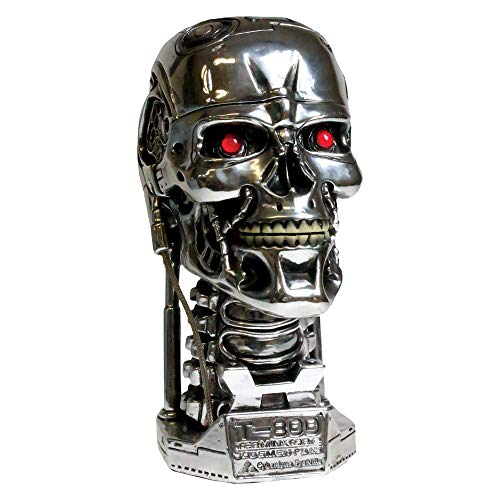 Nemesis Now B1427D5 Terminator Head Box, 18 cm, silberfarben