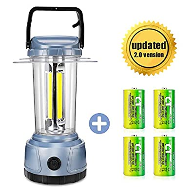 DOZAWA LED Camping Lantern Battery Powered 2000 Lumen COB Camping Light 4D Batteries(Included) Perfect for Hurricane, Camping, Emergency Kit