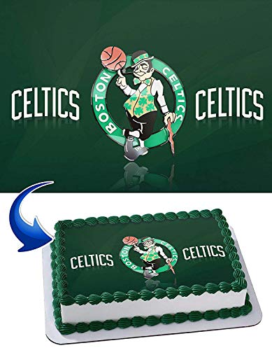 Celtics Edible Image Cake Topper Party Personalized 1/4 Sheet