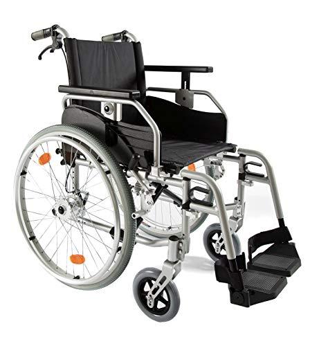 bescomedical Rollstuhl Primus ML 2.0 mit Komfortpaket, Faltbar, Leichtgewicht, Trommelbremse mit Steckachsensystem, Sitzbreite 43 cm