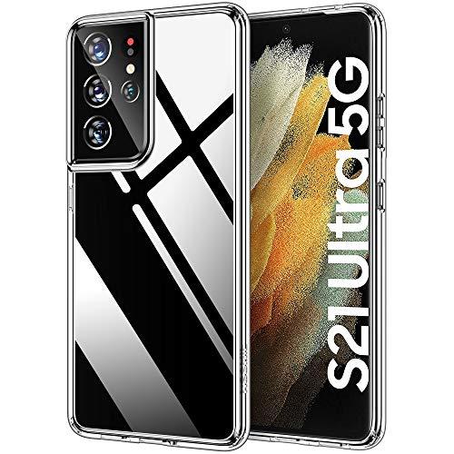 HOOMIL Clear Cover Compatibile con Samsung Galaxy S21 Ultra Custodia Silicone Trasparente