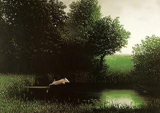 Laminated Diving Pig Michael Sowa Jumping Off Dock Kohler`s Schwein Funny Print Poster 20x28 by Motivational Art Prints