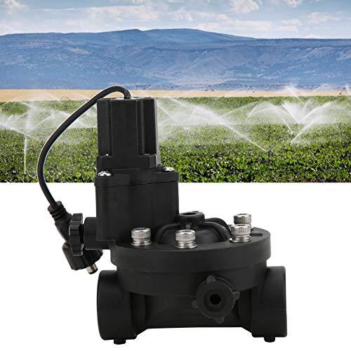 JULYKAI Válvula de Control de Flujo de riego de jardinería, DN15 IP68 Válvula de Control de Flujo de riego de jardinería Impermeable Válvula de solenoide de Pulso Accesorios Tarro antisifón Válvula