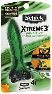 Schick Xtreme 3 Sensitive Peaux Sensibles Razors 4 ea (Pack of 2)