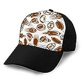 hyg03j4 Neutre Coton Denim Chapeau Réglable Hommes Femmes Football américain ou Ballons de Rugby modèle sans Couture Unisexe Ballcap