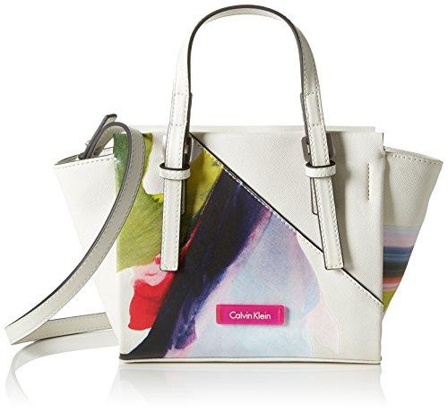 Calvin Klein dames M4RISSA PRINT MINI TOTE Tas, poeder wit), 18x10x32 cm (b x h x t)