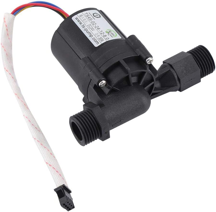 DC 24//12V Solar Hot Water Heater Circulation Pump Auto Shut-Off Low-Noise Water Adjustable Circulation DC Pump for Solar Heater System 24V
