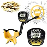 Metal Detector for Adults, COOCHEER 5 Mode Underwater Metal Detector, High Accuracy Adjustable with Big Backlit LCD, Upgraded DSP and Audio Prompts, Carrying Bag and Shovel for Easy Travel