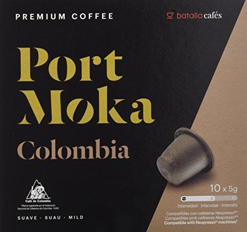 Port Moka Cápsulas de Café Colombia Compatibles con Cafetera Nespresso - 40 cápsulas por lote.