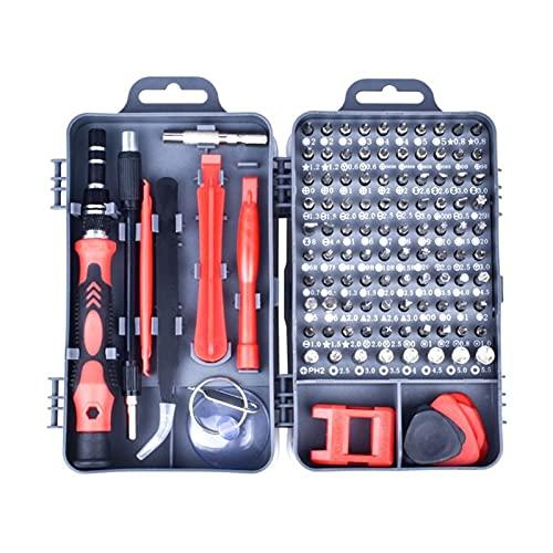 115 en 1 Set de destornillador profesional, reparación portátil Mini Precision Destornillador PC MULTI COMPUTADOR PC Dispositivo de teléfono móvil Reparación Herramientas de hogar (Color : Red)