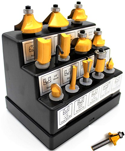 12 piece router bit set - 8