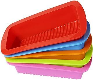 OUNONA Molde rectangular silicona para Pan molde para tartas