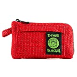 Dime Bags Padded Pouch with Soft Padded Interior | Protective Hemp Pouch for Glass with Interior Smell Proof Pocket (Red, 7-Inch)