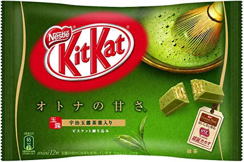 Kitkat Matcha Flavor mini chocolate 12 pcs 144g Japan Import [Standard ship by SAL: NO Tracking & Insurance]