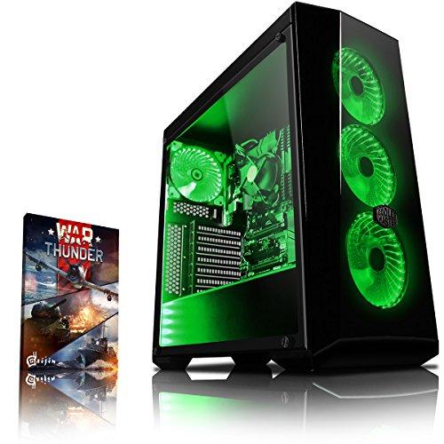 Vibox VBX-PC-278350 Gaming Desktop PC (AMD Ryzen 3-2200G, 1000GB harde schijf, 8GB RAM, geen besturingssysteem) groen