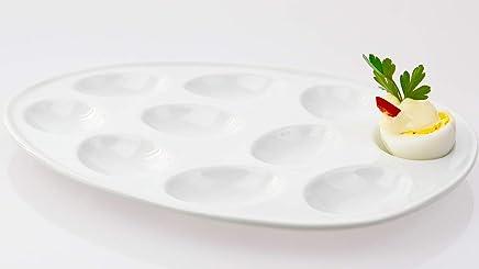 Preisvergleich für Porzellan Eierteller für 10 halbe Eier