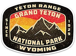 Grand Teton National Park Wyoming Vintage Style Vinyl Decal Sticker 3.75