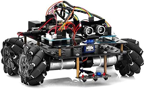 OSOYOO Omni-directinal Mecanum Wheels Robot Car Kit for Arduino Mega2560|Metal Chassis DC Motor Robotic DIY|STEM Remo...