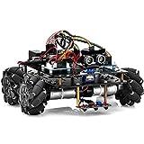 OSOYOO Omni-directinal Mecanum Wheels Robot Car Kit for Arduino Mega2560|Metal Chassis DC Speed Encoder Motor Robotic DIY|STEM Remote Controlled Educational | Mechanical DIY Coding for Teens Adult